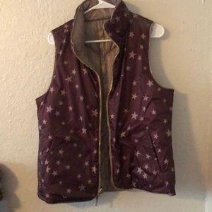 Reversible puffer vest sz L
